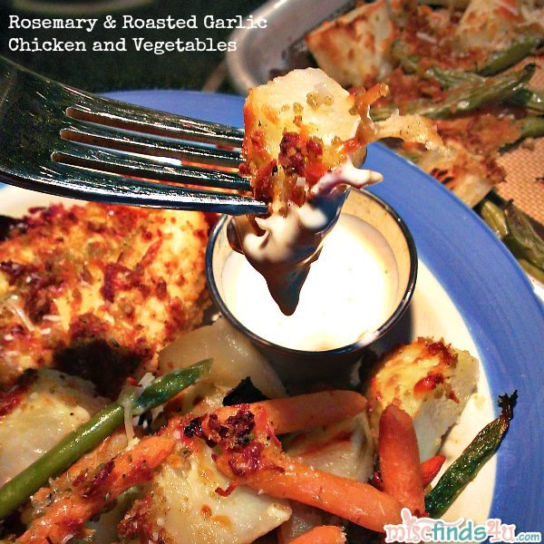 Easy Rosemary & Roasted Garlic Chicken and Veggies