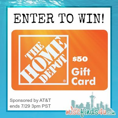 Win a $50 Home Depot Gift Card from AT&T and MiscFinds4u.com - Sponsored