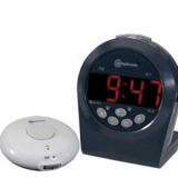 TCL 200™ Digital Alarm Clock with Wireless Vibrating Pad, Time/Alarm Announce and Telephone Ring Signaler