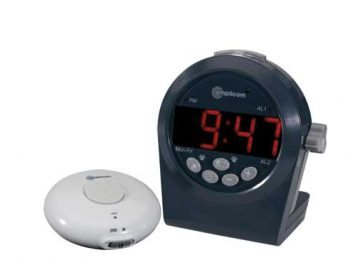 amplicom TLC 200 Digital Alarm Clock with Bed Shaker