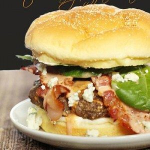 Recipes for Summer - Blue Cheese Bacon Burgers Recipe