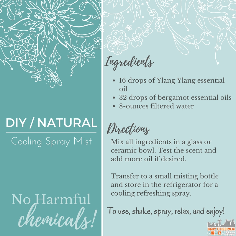 DIY Natural Cooling Mist Spray