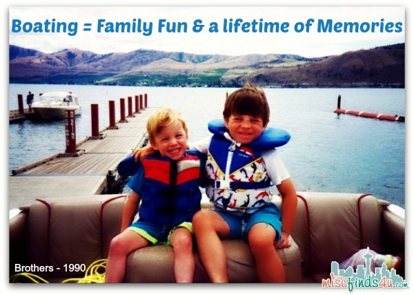 Family Boating Fun memories - my boys, 1990 on a lake in Eastern, WA on our beloved Bayliner Capri