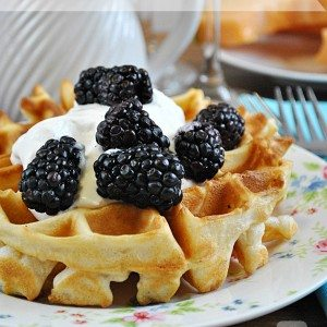 Recipes for Summer - Fluffy Belgian Waffles Recipe