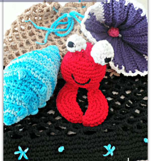 Free Crochet Patterns: Beach Bag, Crab and Shell Amigurumi