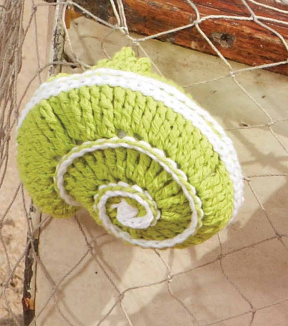 Free Green Coiled Shell Crochet Pattern