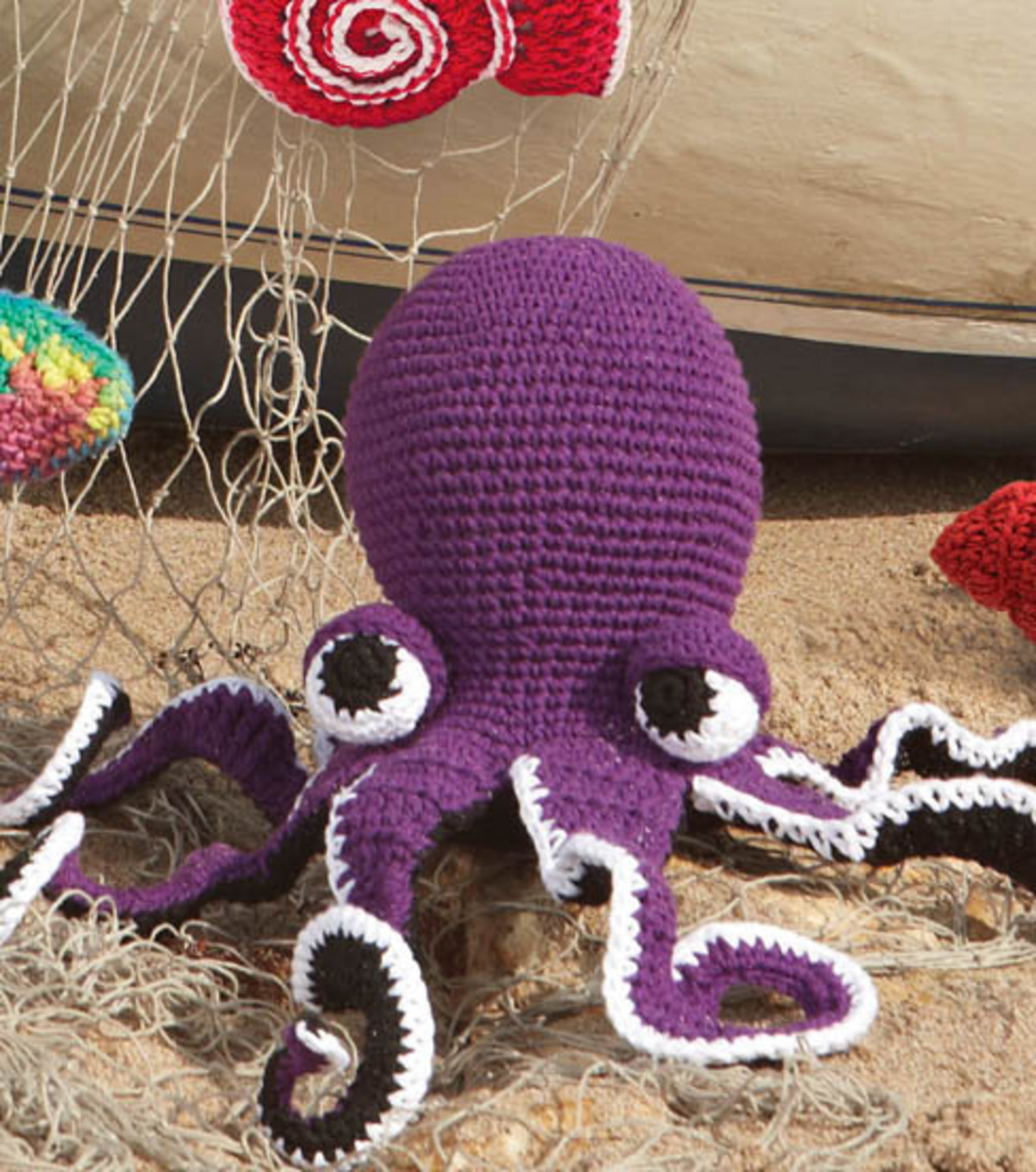 Free Pattern Crochet Octopus : Free Crochet Patterns: Beach Bag, Crab and Shell