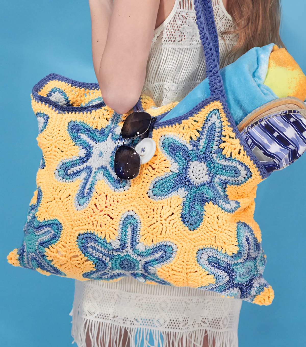 Crochet Patterns For Beach Bag : Free Crochet Patterns: Beach Bag, Crab and Shell
