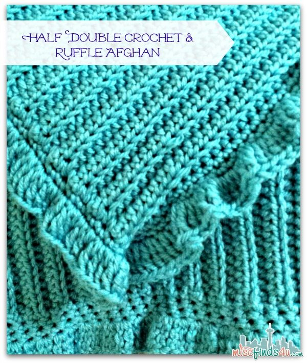 Half Double Crochet with Ruffle Afghan