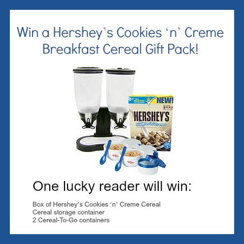 Win a Hershey's Cookies 'n' Creme Cereal gift pack: