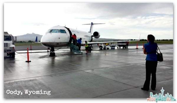 Landing in Cody Wyoming