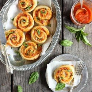 Margherita Pizza Wheels by Completely Delicious