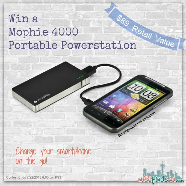 Win a Mophie 4000 Portable Powerstation