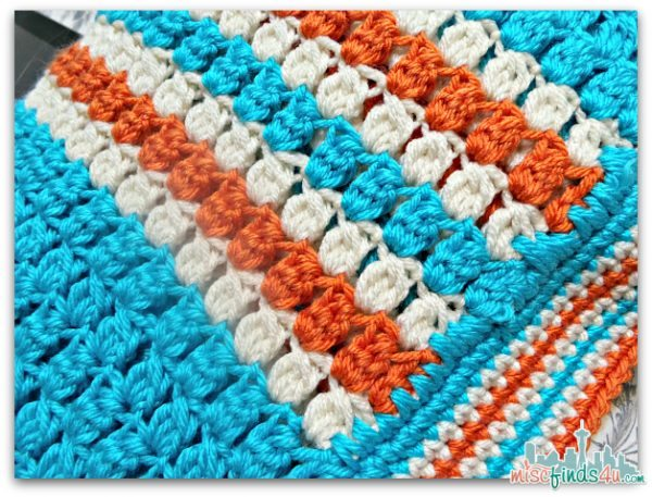 Kids Race Strip Afghan Orange Buff Teal Afghan - color combinations