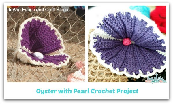 Oyster with Pearl Crochet Pattern