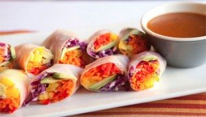 Rainbow Spring Rolls by Macheesmo