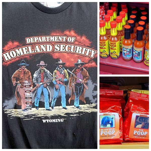 Shopping in Cody Wyoming - Tees, Food and Novelties