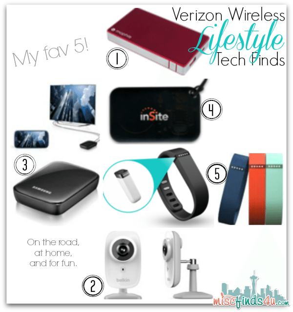 Verizon Wireless Lifestyle Tech Top 5 Finds