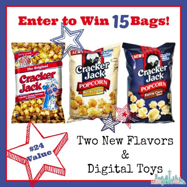 WIN Cracker Jack Original, Butter Toffee and Kettle Corn