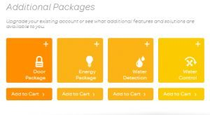A selection of the available AT&T Digital Life Add-on Packages Available