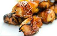 Bacon Wrapped Pineapple Teriyaki Chicken Skewers recipe