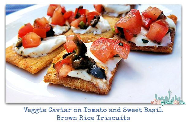 Brown Rice Triscuits Tomato and Sweet Basil Veggie Caviar