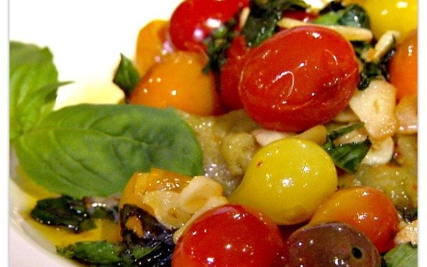 Fava Bean Puree with Garlic Tomato and Basil Recipe