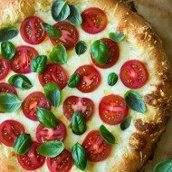 Four Cheese Caprese Pizza recipe by Cookin Classy