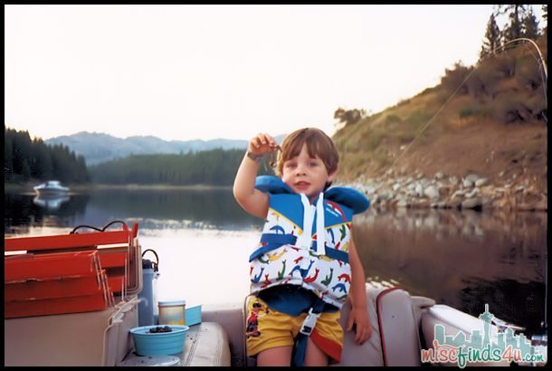 Got a worm! - Brian fishing at age 3  - a different lake, but the same fun