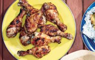 Grilled Lemon-Oregano Chicken Drumsticks Recipe by Epicurious
