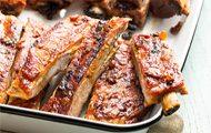Pork Ribs with Smoky Bacon Barbecue Sauce recipe
