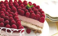 Raspberry and Peach Parfait Cake recipe by Epicurious
