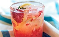 Spiked Strawberry Lemon Spritzer recipe