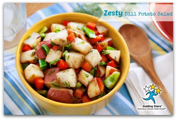 Potato Salad Recipe – Zesty Dill – Light @guidingstars