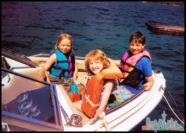 Another summer vacation on the lake - the kids are 3 years older and much more daring!