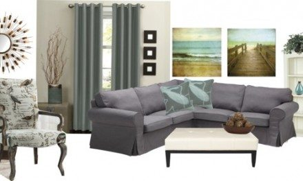 Decorating Ideas – Sea Glass and Charcoal Color Scheme
