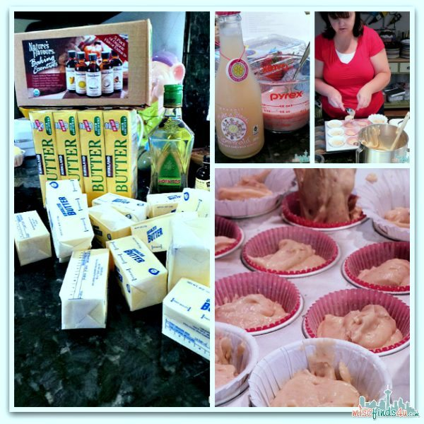 Cupcake Baking - strawberry lemonade, margarita, and coconut