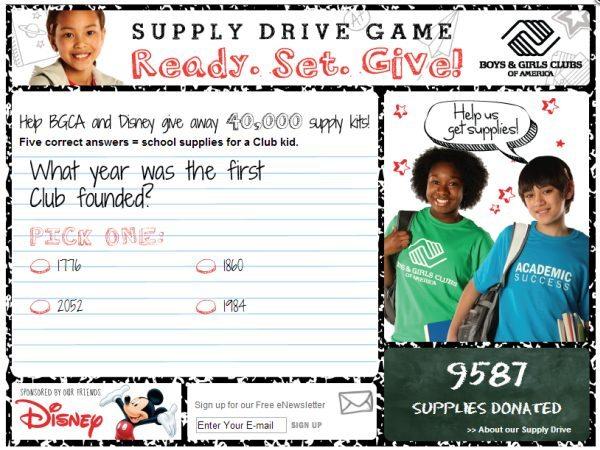 Disney BGCA Supply Drive Information - #Tools4BTS Sponsored