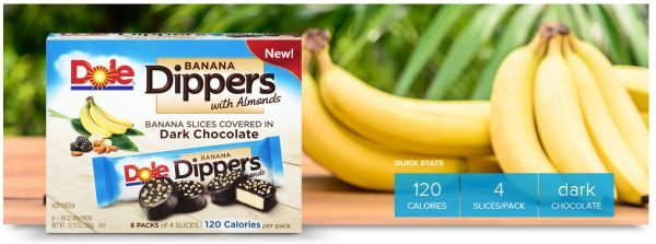 Dole Banana Dippers with Almonds