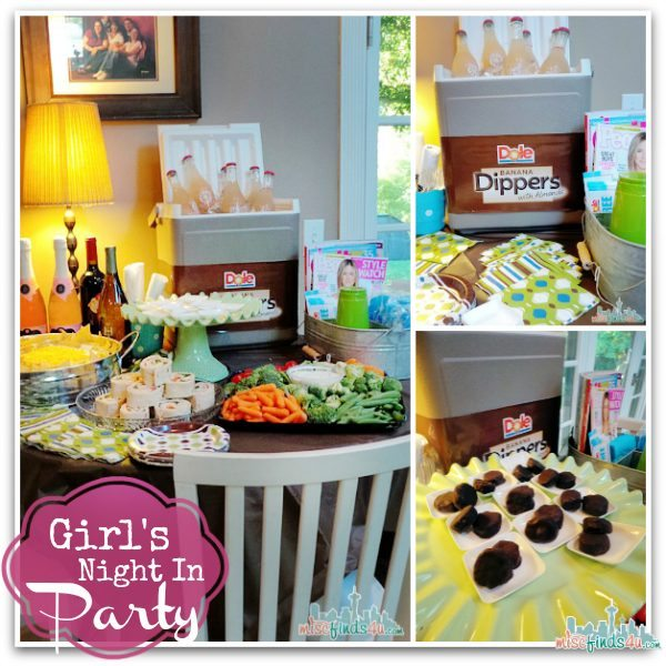 Our Girls Night In Party -sponsored by DOLE Banana Dippers