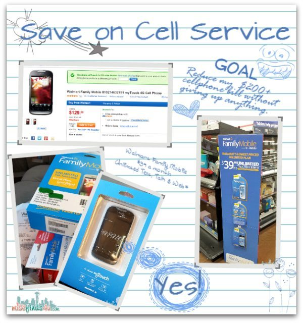 Goal - To Save Money on my Cell Service -trying the Walmart Family Mobile plan for 3 months  #FamilyMobileSaves #cbias #shop