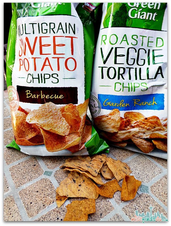 Green Giant™ Roasted Veggie Tortilla Chip - Garden Ranch and Green Giant Multigrain Sweet Potato Chip – Barbecue  #GiantFlavor