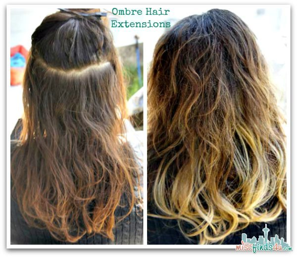 Ombre Clip-in Hair Extensions - Before and After