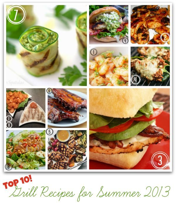 Top Grill Recipes for Summer 2013