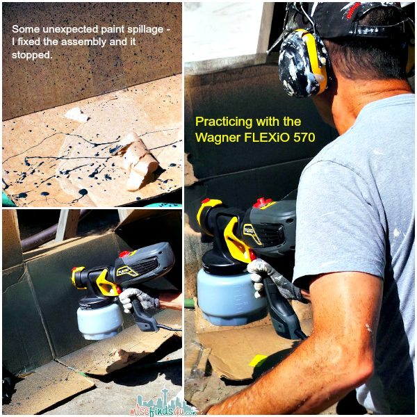 Wagner FLEXiO 570 Paint Sprayer - fast and easy painting indoors or out with a slight learning curve.