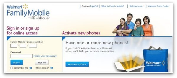 Walmart Family Mobile Powered by TMobile