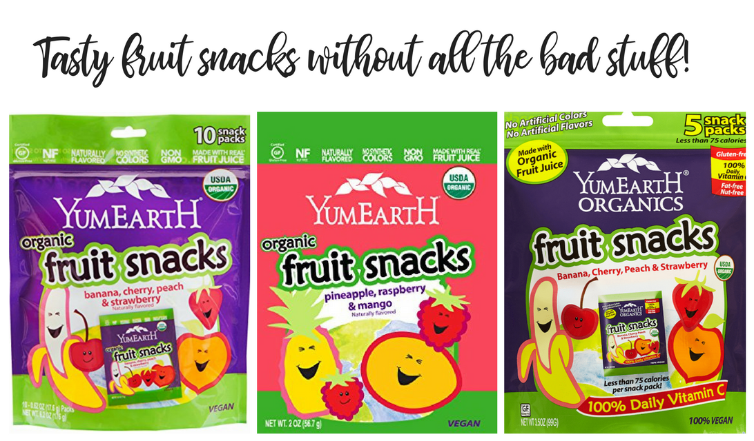 YumEarth Organics Fruit Snacks – Perfect for Back-to-School Or Anytime!