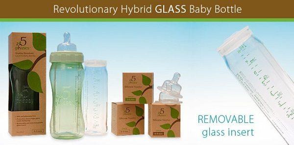 5 Phases Hybrid Glass Baby Bottle  - ad