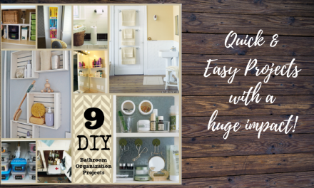 Bathroom Organization – 9 Easy DIY Projects Anyone Can Do