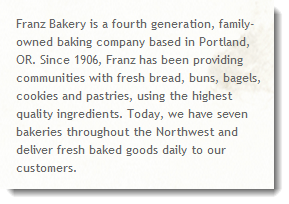 Learn More about Franz Bakery - a NW family-owned bakery